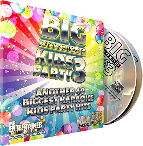Mr Entertainer Big Karaoke Hits of Kids Party Volume 3 - Double CD+G Pack. 40 More Greatest Childrens Party Songs. fiesta infantil: Mr Entertainer Karaoke: Amazon.es: Música