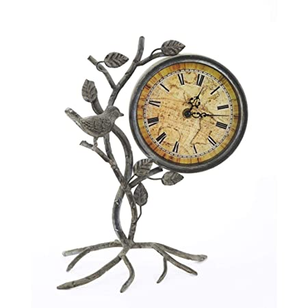 Tangxiaonei Reloj de Mesa Vintage Escultura de Metal con Forma de ...