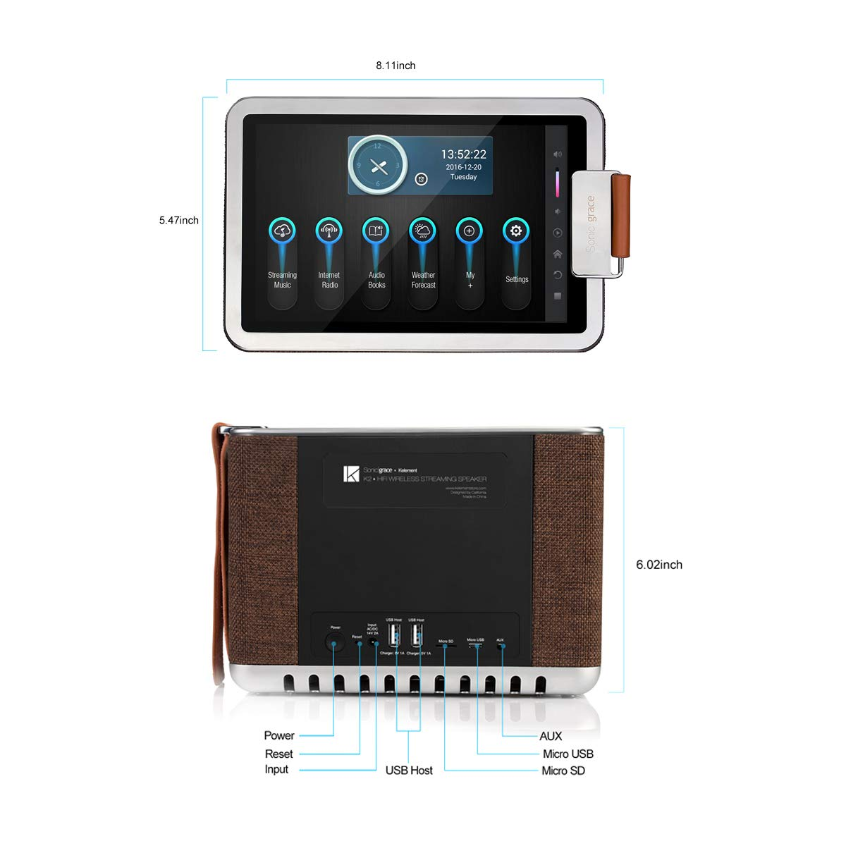 Wireless & Streaming Audio Electronics 8-in-1 Multifunctional ...