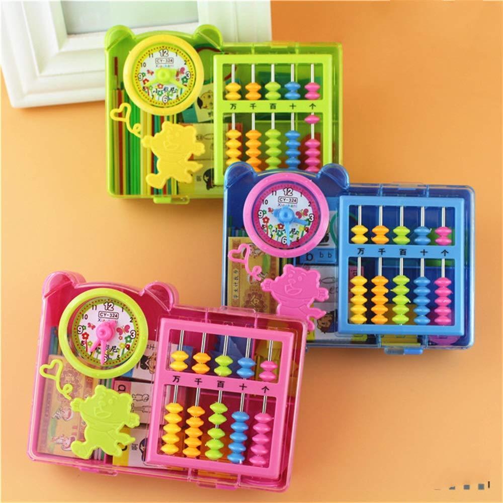 Kid Spielzeug 1 Satz Geometrie Zahlen Sticky Tangram Lernen Uhr Stick Grundschule Mathematik Kit Blau Nussknacker Möbel & Wohnaccessoires