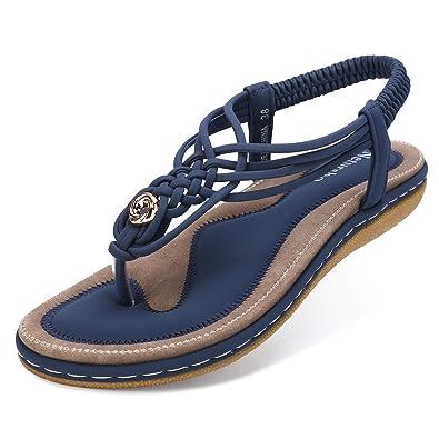 11e96d5ea9f Amazon.com  Netursho Summer Sandals for Women