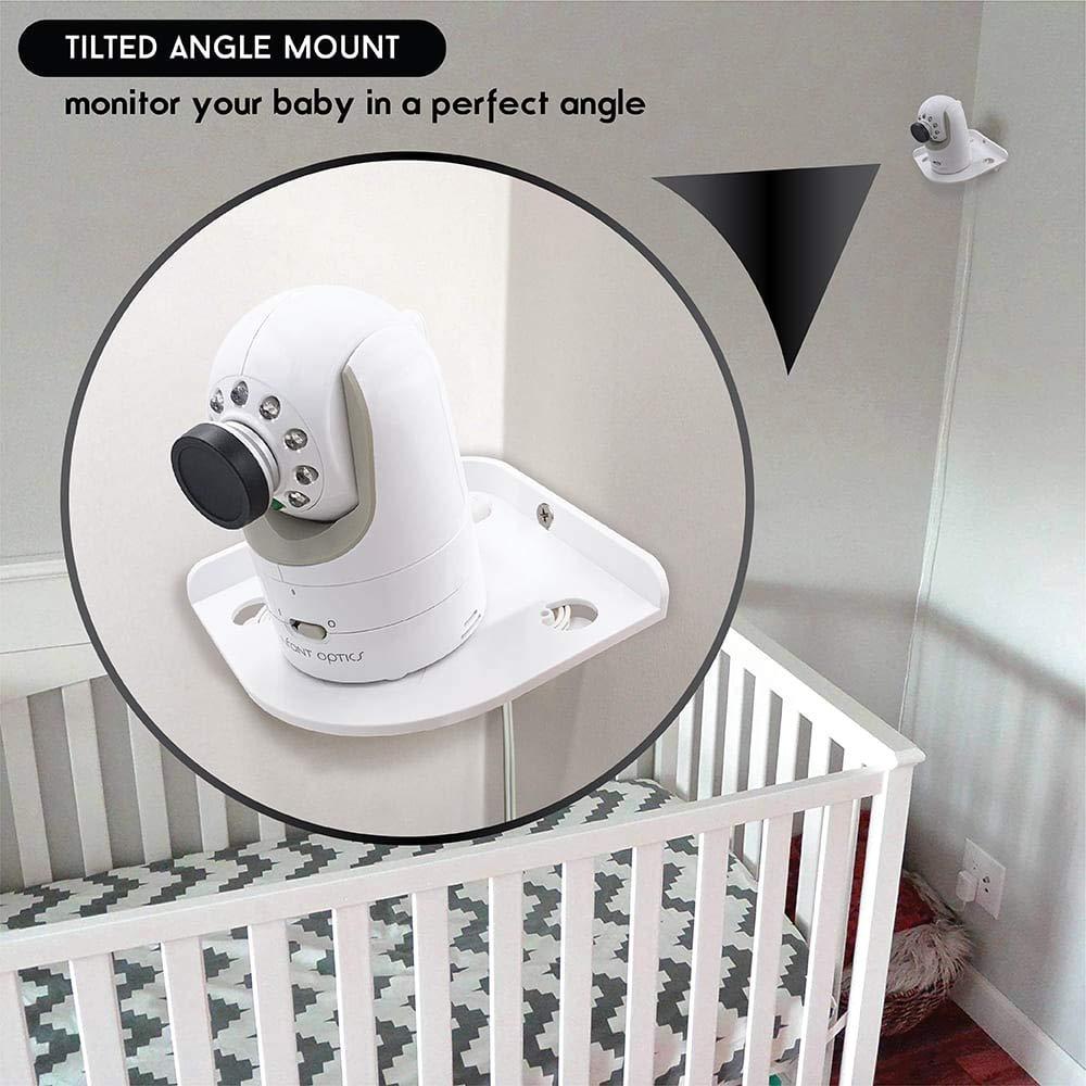 - Corner Camera Shelf for Infant Optics DXR-8 DXR-5 Arlo Baby Babysense 7 Hello Baby Motorola Baby Monitor Mount White Universal Wall Mounts Crib Cam Holder for Infants Video Monitoring by Sully