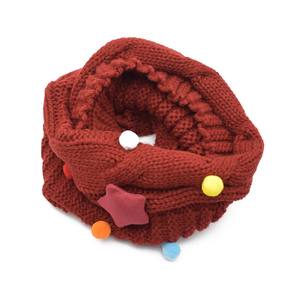 Winter Chunky Cable Knit Infinity Circle Loop Scarf for Kids Girls Boys Neck Warmer