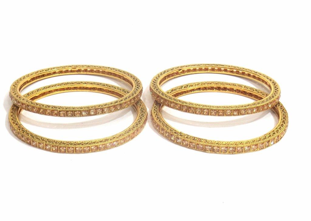 Jewelshingar Jewellery Fine Micro Plated Bangles For Girls ( 32536-m-2.6 ) by Jewelshingar (Image #2)