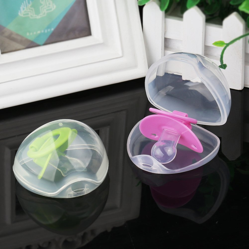 4 Pack BPA Free Nipple Shield Case Pacifier Box for Travel Accmor Pacifier Case,Pacifier Holder