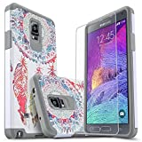 Note 4 Case, Galaxy Note 4 Case, Starshop [Shock Absorption] Dual Layers Impact Advanced Protective Phone Cover with [Premium HD Screen Protector Included] for Samsung Galaxy Note 4 (Dream Catcher)