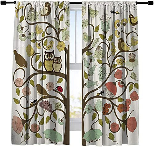 Miblor Room Darkening Blackout Curtain