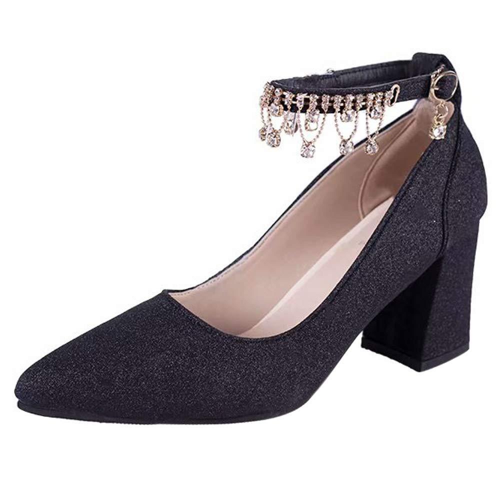 Talons Hauts Femme, Xinantime Mode hauts talons Femmes Pompes Chaussures Chaussures à Talons épais Automne Hiver