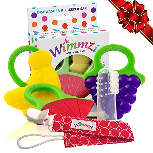 BEST TEETHING TOYS FOR BABY - Set of 3 BPA-free Silicone Soft...