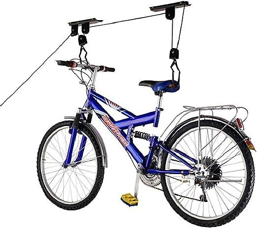 PrimeMatik - Soporte para Colgar Bicicletas del Techo Mediante poleas y Cuerdas: Amazon.es: Electrónica