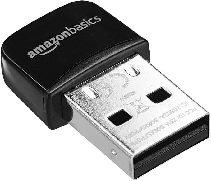 Amazon Basics - Adaptador USB nano Wi-Fi 11n, 150 Mbps, Negro