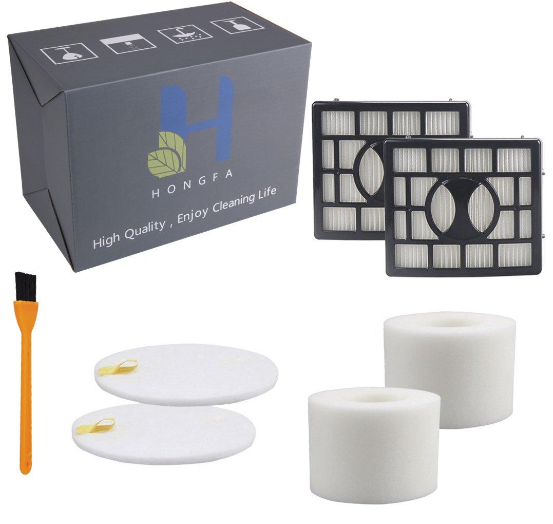 Hongfa 2 Sets Foam & HEPA Filter Kits Replacement Shark NV803 Filters, Compatible with Shark Rotator Powered Lift-Away Speed Vacuum Cleaner NV801 NV682 NV681, NV683, NV800, NV800W,UV810,Part # XHF680
