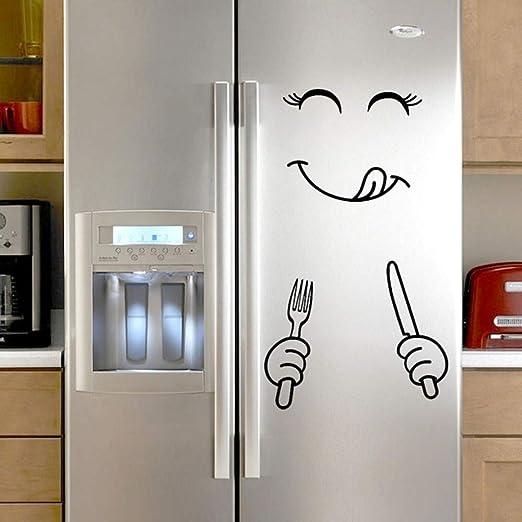 SUXIAO Pegatinas de refrigerador de expresión de Dibujos Animados ...