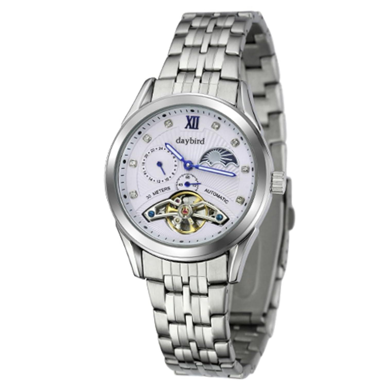 Automatische mechanische Herrenuhren-Hohlen MÄnner Uhren wasserdicht PersÖnlichkeit-Business casual Uhren-B