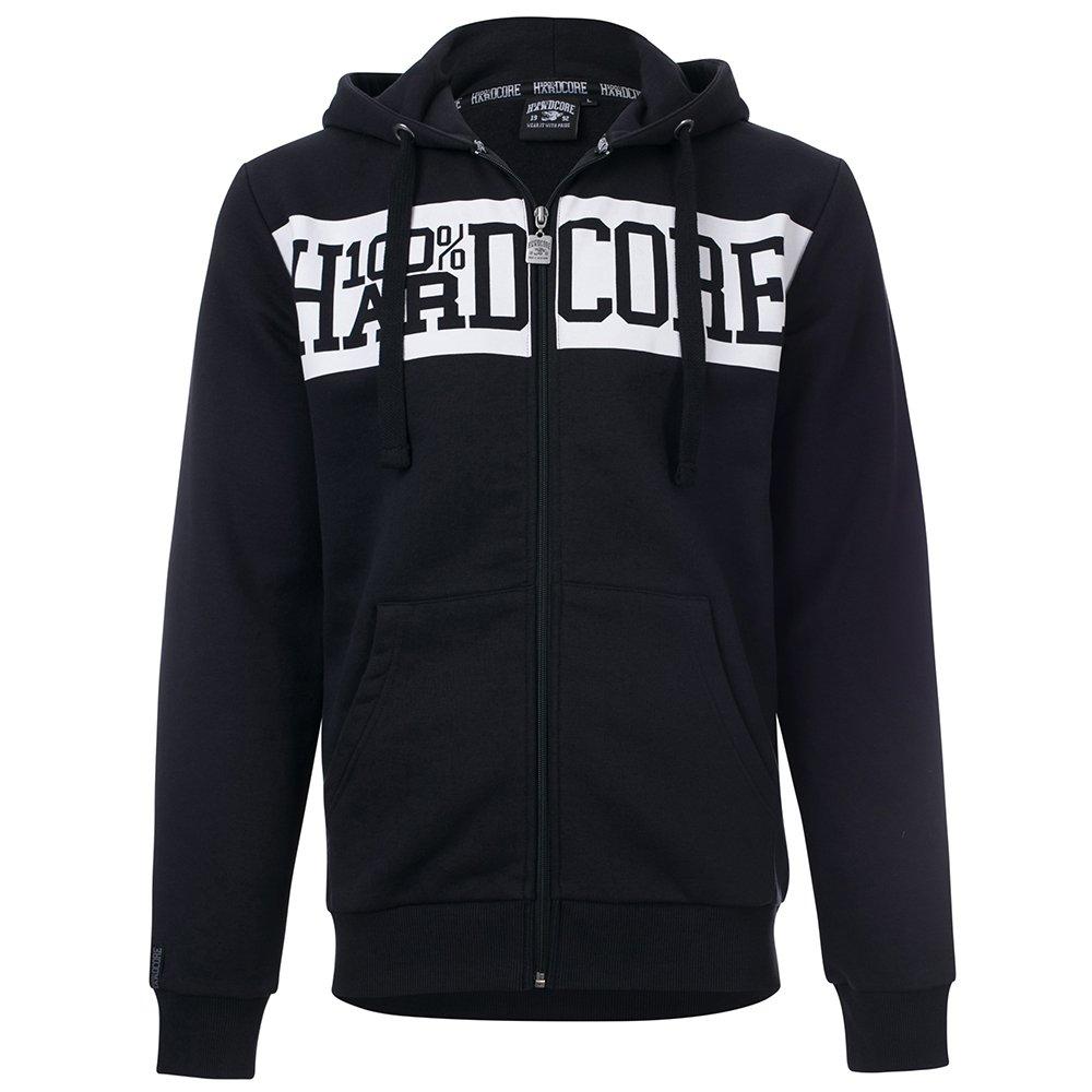 100% Hardcore Zip Hoody Basic 3.0 - Schwarz