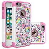 Iphone 5S Case, Iphone SE Bling Case, Rainbow Unicorn Pattern Heavy Duty Shockproof Studded Rhinestone Crystal Bling Hybrid Case Silicone Protective Armor for Apple iphone 5/5s iphone SE Reviews