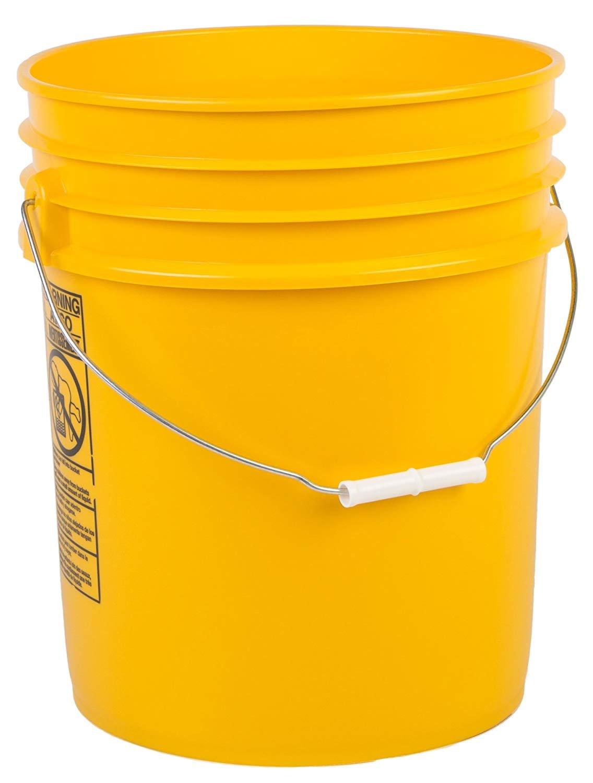 Hudson Exchange Premium 5 Gallon Bucket with Gamma Seal Lid, HDPE, Yellow