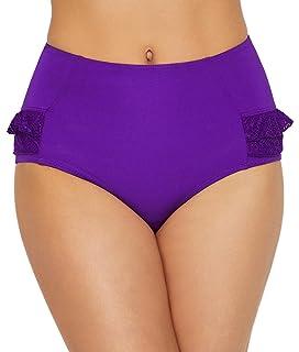 Pour Moi Starboard Fold Adjustable Bikini Pant 68003 Black Purple