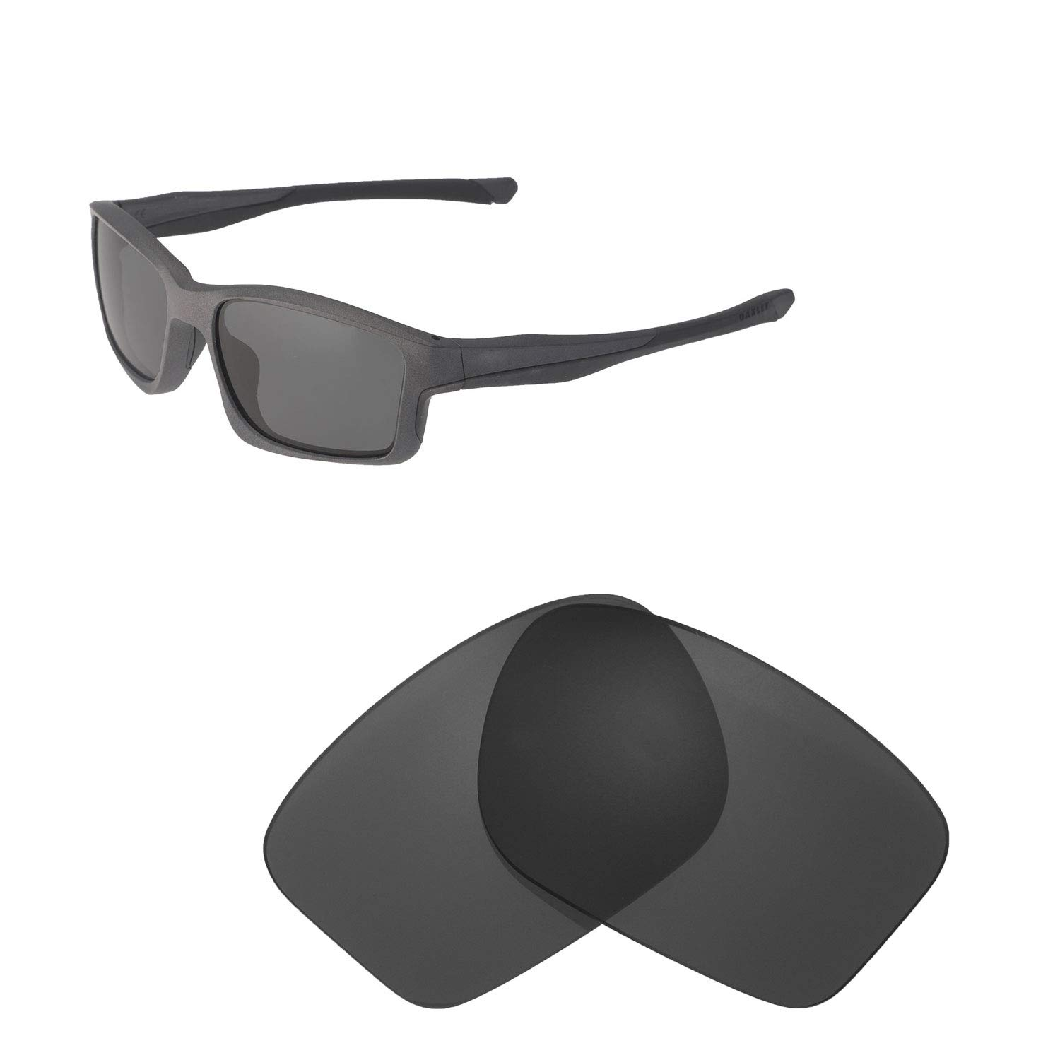 d7838bc5a7 Amazon.com  Walleva Replacement Lenses for Oakley Chainlink Sunglasses -  Multiple Options Available (Black - Polarized)  Clothing