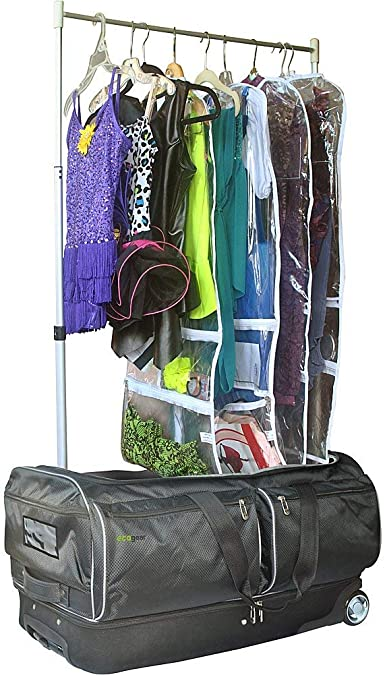Competition Dance; Recital Portable Personal Costume Rack with extension poles