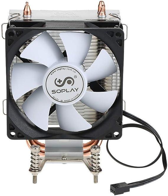 Accesorios Electrónicos SOPLAY CPU Radiador Enfriador Ventilador 2 ...