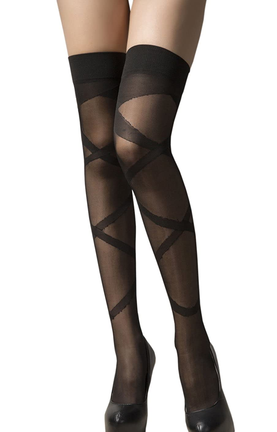 DA2S Stocking Tights Black Garter Belt Stocking Set Women