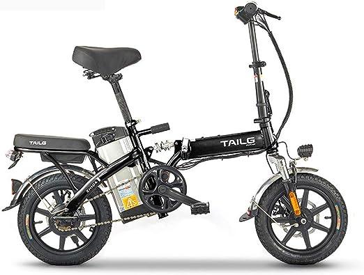 Pc-Hxl Bicicletas electricas Bicicleta eléctrica portátil de Aluminio Plegable Inteligente con 48V batería de Iones de Litio E-Bike 250W Motor Potente Velocidad máxima de Unos 25 km/h: Amazon.es: Hogar