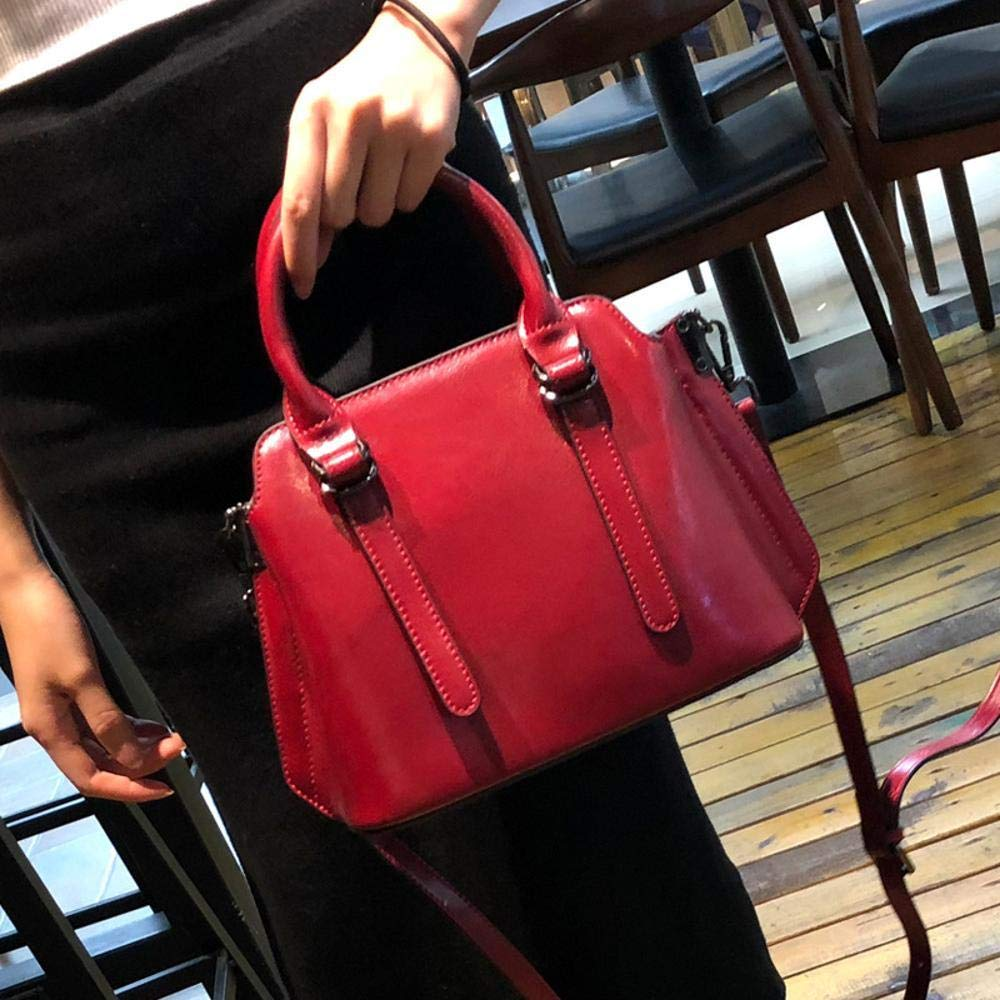 Circlefly Europäische und amerikanische amerikanische amerikanische Mode Leder Frauen Damen Tasche Schultertasche Rindleder Handtasche wasserdicht Verschleiß B07HZ32YHB Henkeltaschen Echt 31bcb0