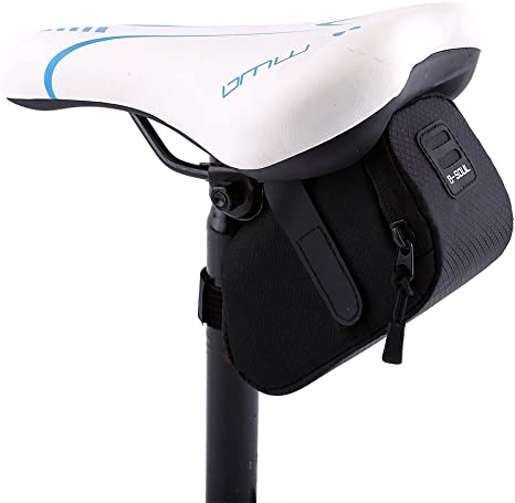 Road Bike MTB Bicycle Saddle Bag Tail Rear Pouch Seat Storage Pack Package 1L UK