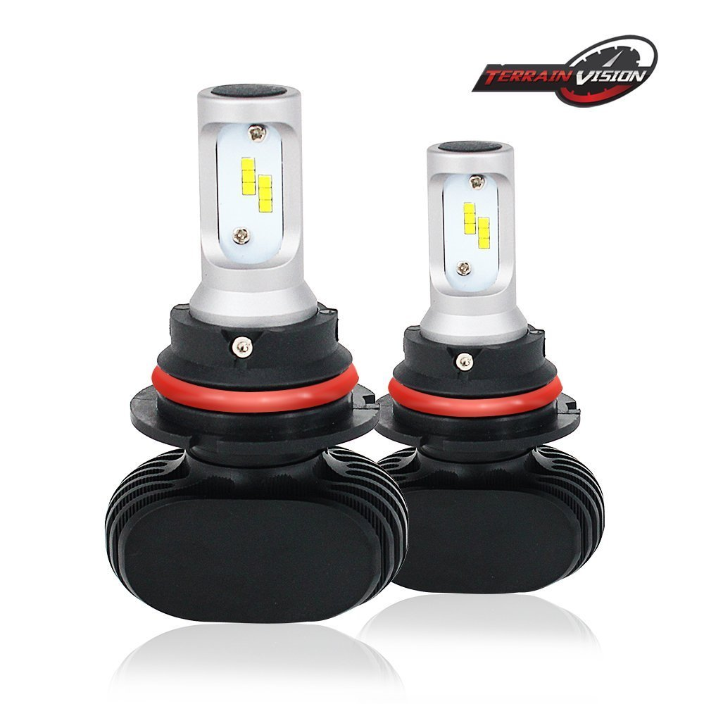 TERRAIN VISION H16(EU) LED Headlight Bulb - 8000LM 6500K Cool White 50W Conversion Kit Replaces Halogen & HID Bulbs Automotive Driving Headlamp & Pair Error Free Decoder - 1 Year Warranty