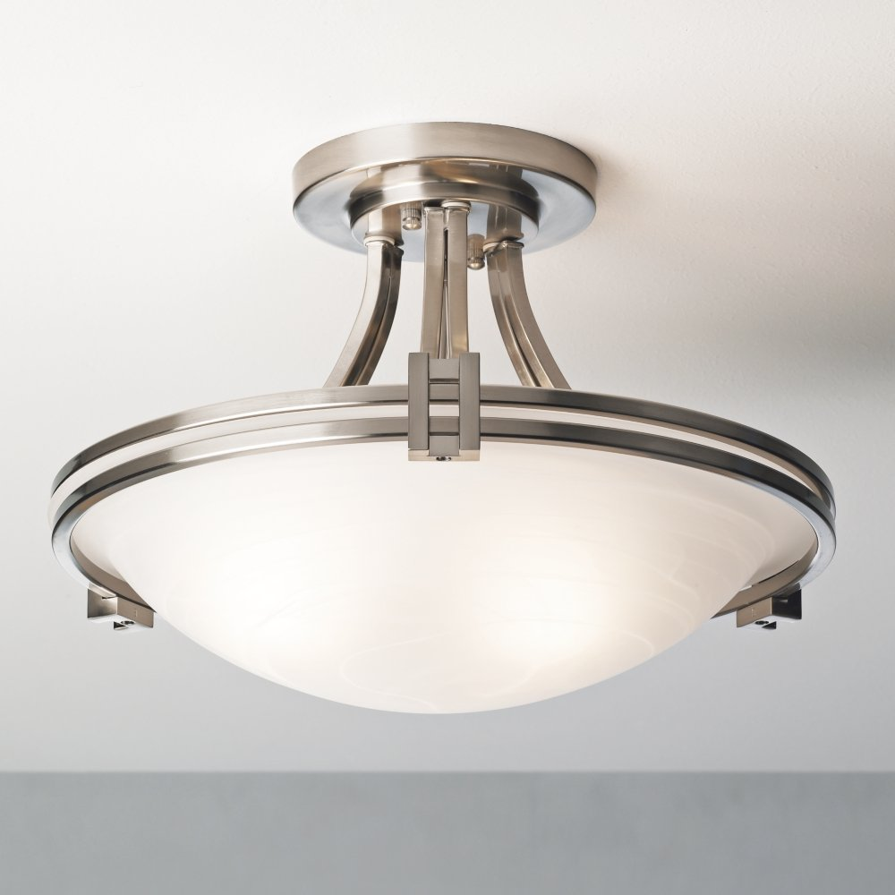 Possini euro deco 16 wide brushed nickel ceiling light possini possini euro deco 16 wide brushed nickel ceiling light possini euro lighting amazon arubaitofo Choice Image