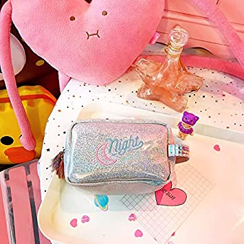 ee134639b11f LULAN Lovely carrying letters embroidery make-up bag of teenage ...