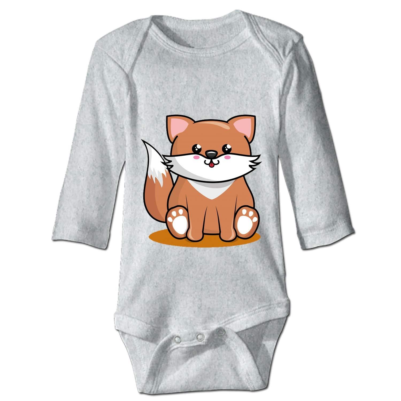 KuLuKo Girly Fox Soft Cotton Long Sleeve Unisex Baby Bodysuit