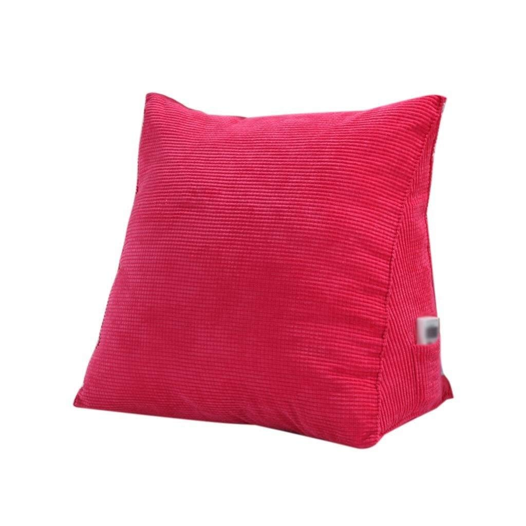 Bbhhyy Triangular Wedge Bedside Back Cushion, Large Sofa Pillow Detachable Cotton Comfortable Soft Cushion Hote Club Pillow Solid Color (Color : D, Size : 403020CM)