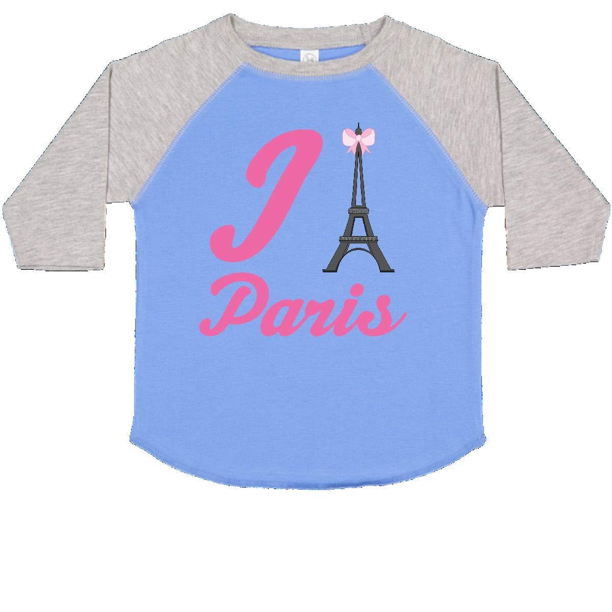 inktastic I Love Paris Eiffel Tower Toddler T-Shirt