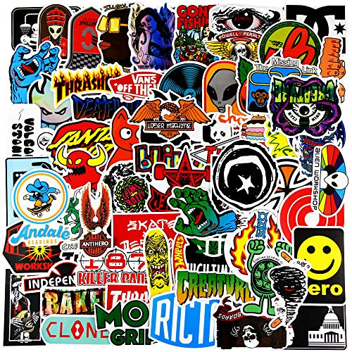 REZAUP Fashion Brand Stickers for Cars Bumper(100pcs) Graffiti Decals for Motorcycle Bicycle Skateboard Luggage Snowboard Travel Case[No-Duplicate Sticker Pack]