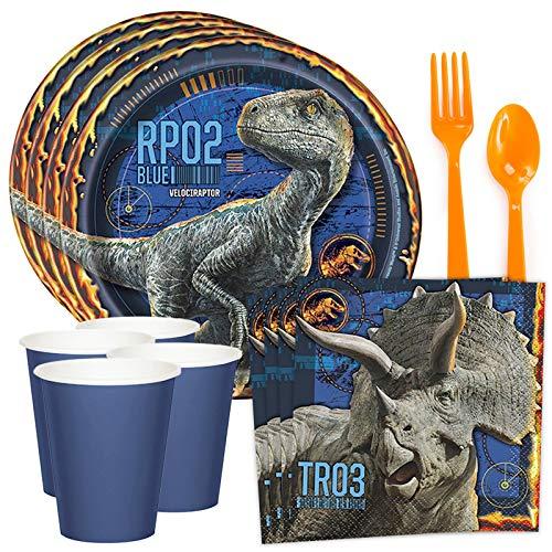 Costume SuperCenter Jurassic World: Fallen Kingdom Standard Tableware Kit (Serves 8)