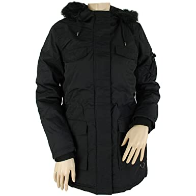 Bellfield Tonso Ladies Parka Jacket Black: Amazon.co.uk: Clothing