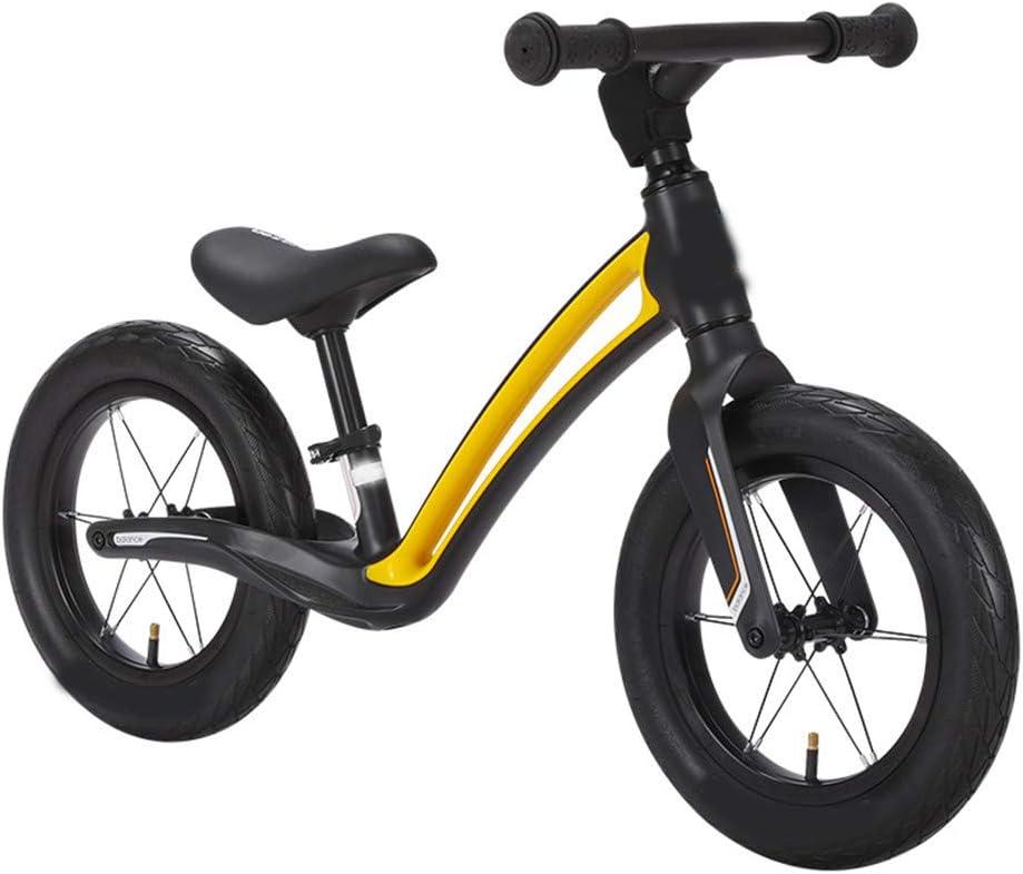 SSCYHT Bicicleta de Equilibrio para niños Bicicleta de Equilibrio para Principiantes para niños Bicicleta de Equilibrio Ligera Niños y niñas Adecuado para niños y niñas de 1.5-5 años,Negro