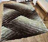 Cheap Large 8×10 Beige Brown Cream Two Tone Color Shaggy Collection 3D Fluffy Fuzzy Design Soft Thick Plush Shimmer Shag Living Room Bedroom Rug (SAD 396 Beige)