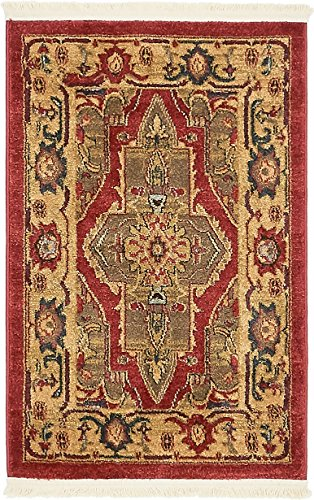 (Unique Loom Sahand Collection Traditional Geometric Classic Red Area Rug (2' 2 x 3')
