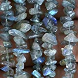 Blue Flash, Labradorite, Natural Gemstone Chip Beads 34 inch, Full Strand Wholesale Price .
