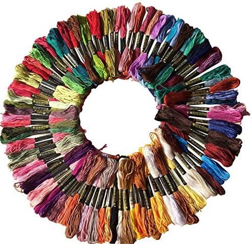 Hrph 100 Piezas DMC hilo de algodón bordado de hilo de coser de ...
