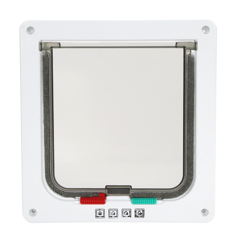 marco telesc/ópico kit de puerta de 4 sistemas de apertura para gato con cerradura f/ácil instalaci/ón para animales peque/ños Gatera para puerta de Top Munster