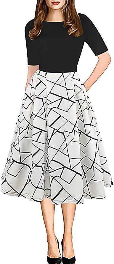 LANDF-OX Falda Femenino Maxi Vestidos Suave Lunares Largo Vestido ...