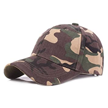 d8479abb317 Katech Camouflage Cap Adjustable Baseball Caps Breathable Summer Sun  Protection Hat Men and Women Spring Autumn Hiking Hats Boys Casual Cap for  Outdoor ...