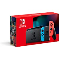 Nintendo Switch Extended Battery Life with Neon Blue and Neon Red Joy‑Con (2019) - International Version