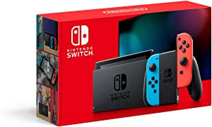 Nintendo Switch Console, Extended Battery Life, Red/Blue