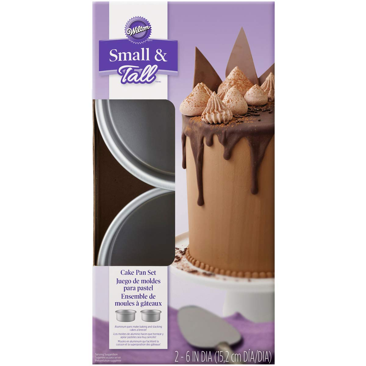Wilton Small and Tall Aluminum Cake Pans, 2-Piece - Layer Cake Pan Set by Wilton