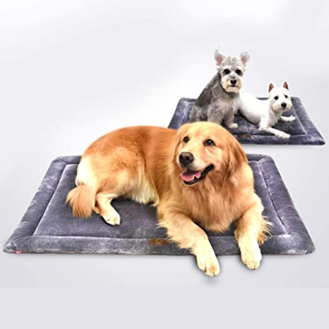 LJ-PET Impermeable Antideslizante Cama de Perro, Durable Refuerzo para Cama, Suave Respirable